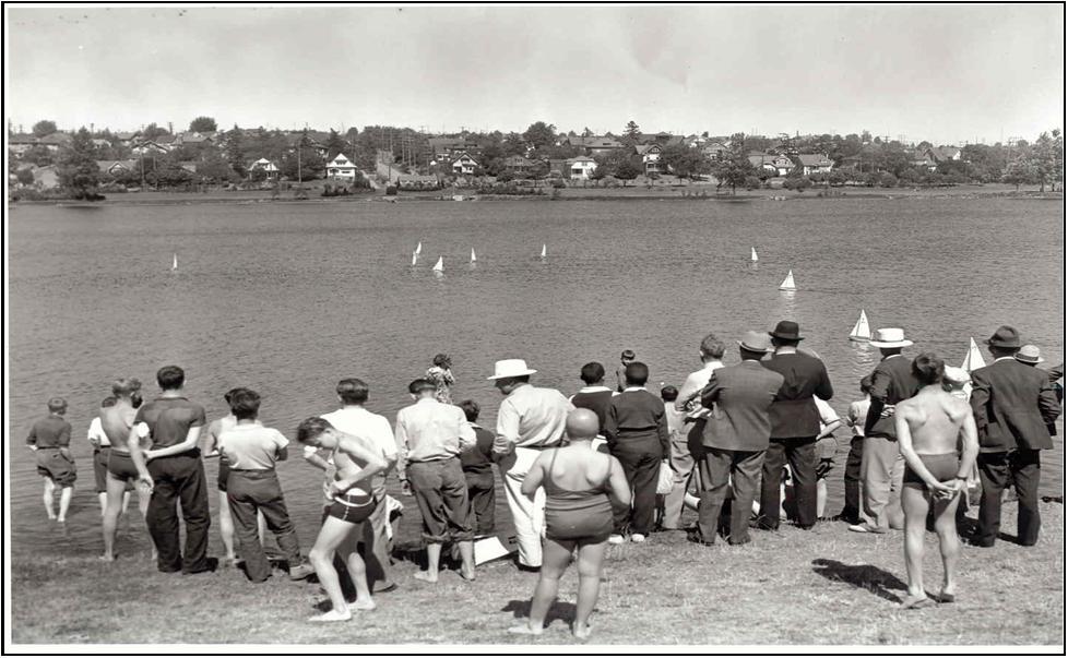 Racing Sail Boats, Green Lake—1938