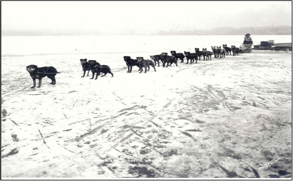 Green Lake frozen over—December 1919