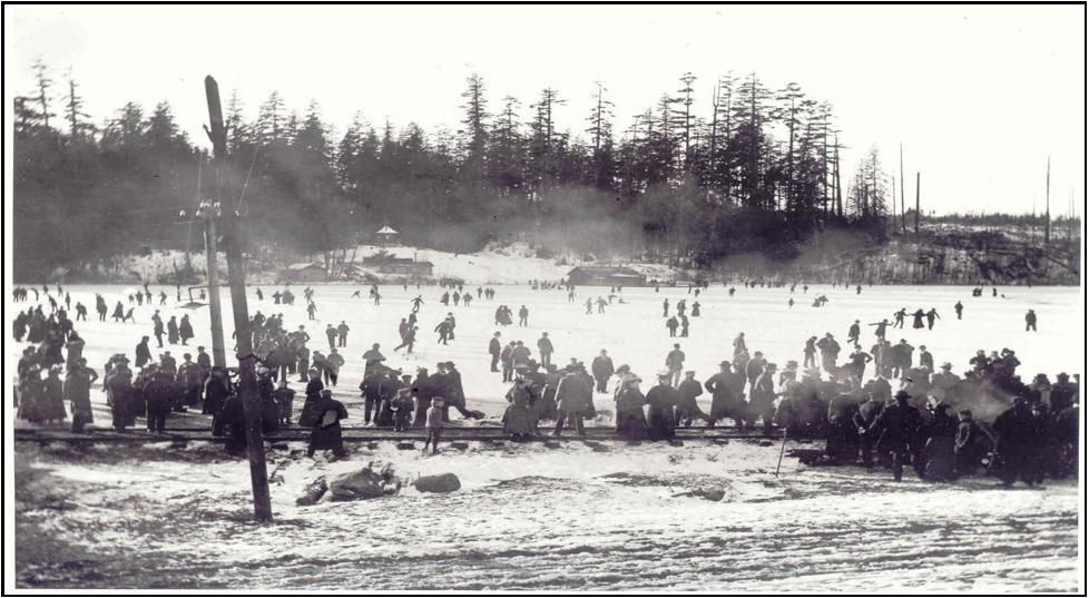 Green Lake Frozen over—1929