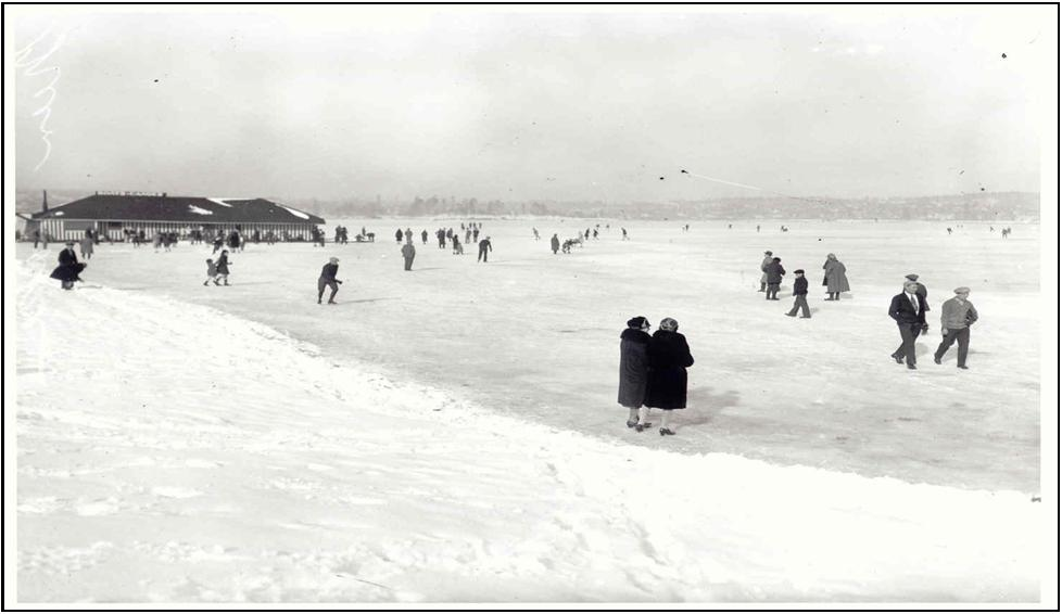 Green Lake Frozen over—1929